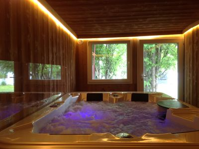 Photo for Chalet with jacuzzi 6-8 people in the heart of Font-Romeu town center.