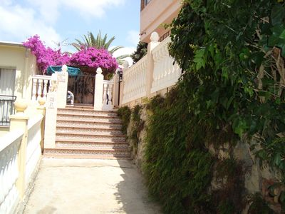 Photo for Lovely VilIa. Beach 2 min. 2Bed.- 1Bath. Up to 3 people. Sun all Day. Wifi