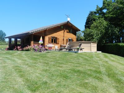 Photo for CHARMING CHALET WITH HEATED SWIMMING POOL SPA SAUNA NEAR CARCASSONNE ..