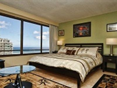 Photo for MONTHLY Discovery Bay 2810 Studio Ocean / Sunset / Marina Views King Bed, Sofa Bed