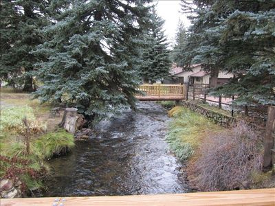 Chicago Creek running in front of the house
