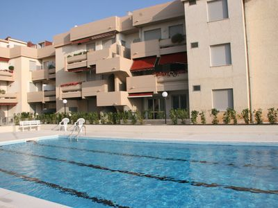 Photo for Apt. with Pool,100 mt from the seaside! perfect for families and couples