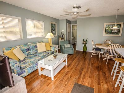 Photo for 35% Special For Sept and Oct - Sea Horse 1 is a lovely one bedroom, pet friendly beachside condo located just steps from our white sand beach on the north end of Fort Myers Beach that sleeps 4 guests.
