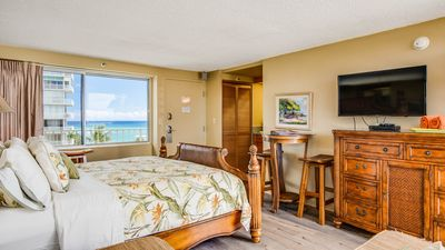 Photo for New Remodel - King Bed Suite over the Pacific Ocean - Diamond Head Beach Hotel