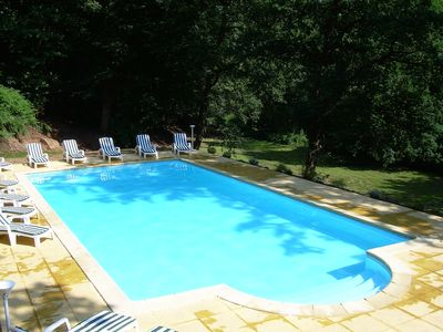 Large heated and covered swimming pool