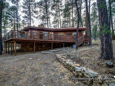 Photo for Cedarside Cabin: 'Retreat in the Pines' With hot tub. Pet Friendly.