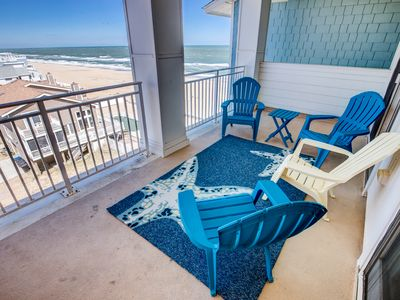 Photo for Top of the Tide Penthouse   150 ft from the Beach   Community Pool