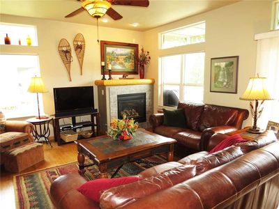 Photo for Silverthorne Ski Condo- Beautiful Unit with Private Hot Tub, On the Blue River, Large Deck, Garage