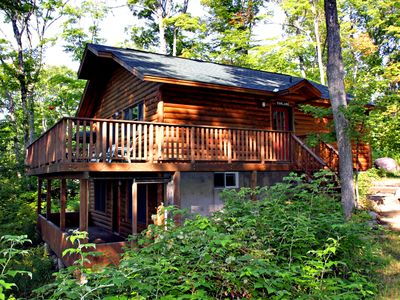 Photo for Lovely lakefront log house on St. Joseph Island, Ontario
