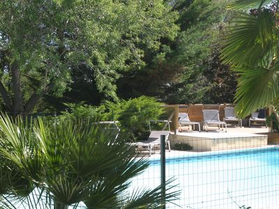 Photo for Gîte Pagnol in wooded property, swimming pool between Aix-en-Provence and Cassis.