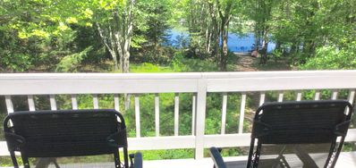 Photo for Great place on water in Lake Naomi/Poconos and large enough for extended family.