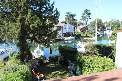 view on garden and canal