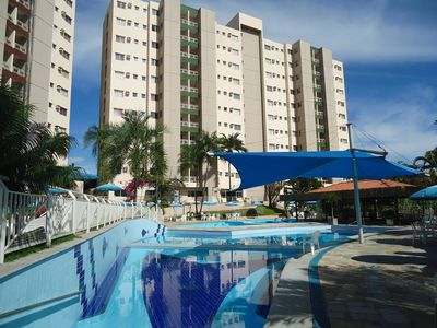 Photo for Caldas Novas-apto furnished, 2 bedrooms and 1 suite - 7 people- 10 swimming pools !!