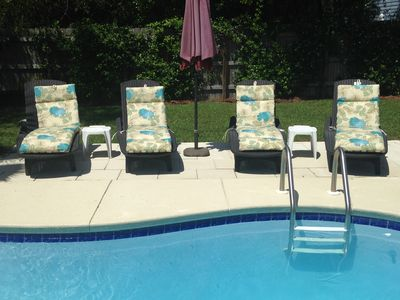 Photo for The Great Escape - Private Pool, steps to beach!!  Popular Crystal Beach