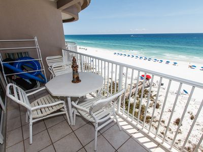 Captivating Views  - The view is simply unbelievable from this 7th floor beach front balcony! Miles and miles of sugar white sand and the gorgeous water!