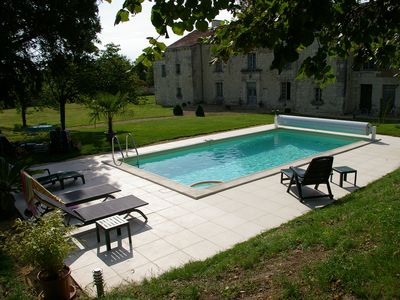 Photo for The 3-star Gîte L'Olivier in a private park of a 17th century manor house