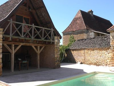 Photo for Rent Gite Casalissa house with heated pool in Perigord Noir, Sarlat