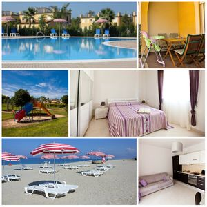 Photo for Family-friendly  Apartment in 5* Pizzo Beach Club, private beach, pool