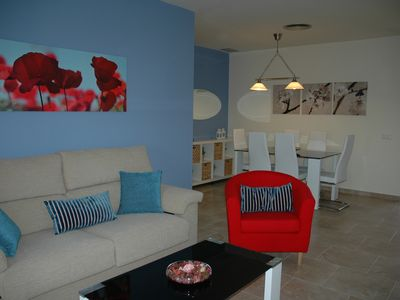Photo for Apartment in Costa Ballena-Chipiona, 10mn from the beach, with pool and terrace.