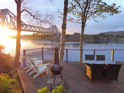 Loch side deck with chimenea + seating