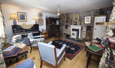 Parlour with wood burning stove
