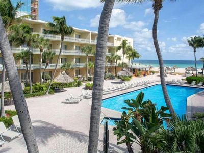 Photo for RIGHT ON THE BEACH, COMFY UNIT FOR 4, POOL