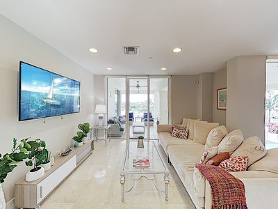 Photo for New Listing! Designer All-Suite Beach Condo w/ Infinity Pool & 3 Balconies