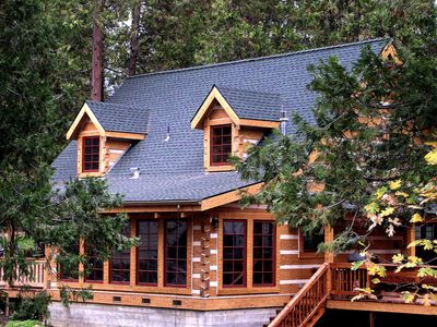 Photo for The Mount's Bass Lake Log Cabin with WIFI Access in Willow Cove