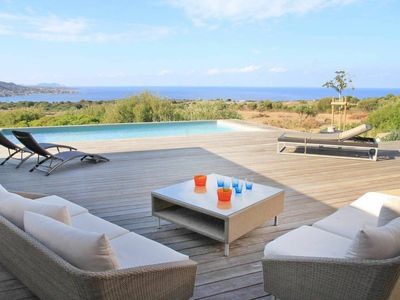 Photo for Modern villa with private pool and sea view