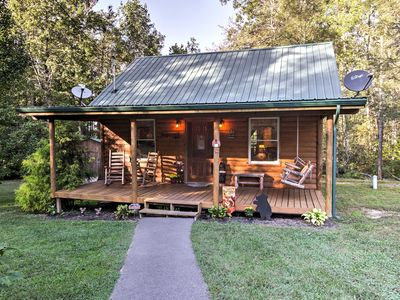 Photo for Pet Friendly Cosby Log Cabin w/Fire Pit & Mtn View