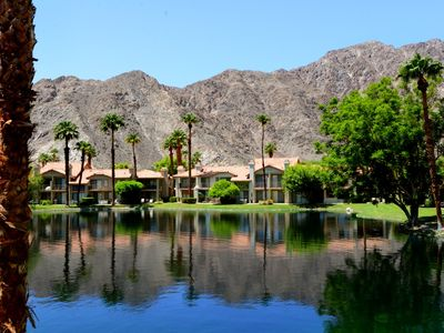 Photo for Relaxing and Bright PGA West Condo w/ Stunning Lake & Mountain Views + Pool & Spa