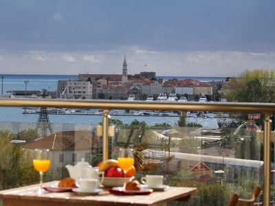 Photo for Karina Apartment in Budva is close to the beach and has the Sea View balcony.