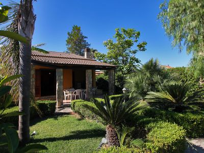 Photo for 3 Bedrooms INDEPENDENT Villa, Garden,Barbecue, BEACH 5 Minutes Walk, Public POOL