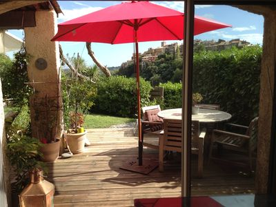 Photo for CHARMING LITTLE HOUSE 70m2- earthworks private garden and pool in the area