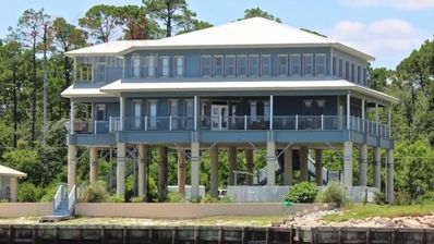 Ocean/Island side view of this magnificent estate.