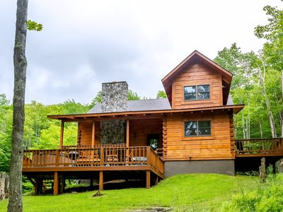 Photo for Dream Catcher - Classic Cabin on Private 3 Acre Lot w/ Pond, Pet Friendly, Hot Tub