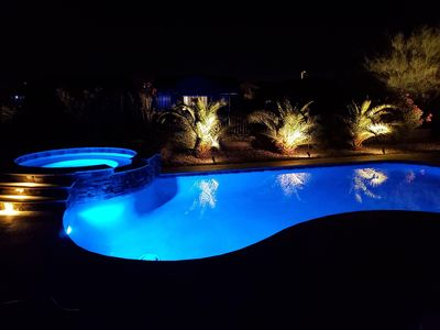 """Photo for NEW LISTING! """"Desert Wind"""" Upscale home w/ Pool Spa & Firepit"""