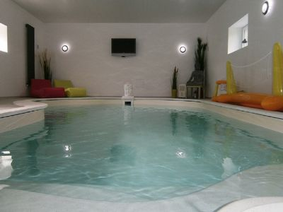 Photo for Cottage 6 people with indoor pool, fishing pond, landing beaches