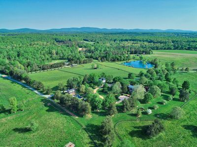 Aerial view of the 550 acre estate