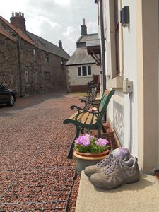 Secluded mews in the middle of Wooler, an ideal base for walking, cycling, etc.