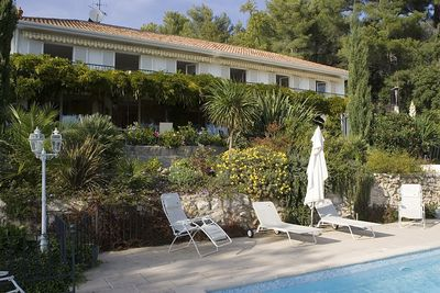 View of Villa Fleurie from swimming pool