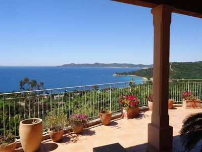 Photo for Charming Villa With Spectacular Views Over The Mediterranean, With Pool