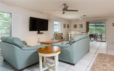 Family fun time - There's plenty of room in the open-plan living/dining area for the whole family to gather together to watch TV, play a game, work on a jigsaw puzzle, and just enjoy each other's company.