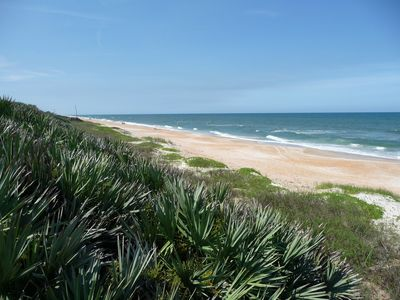 The beach and dunes in Ormond-by-the-Sea