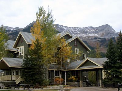 We are a main floor unit (mountain view) in the Spruce Lodge