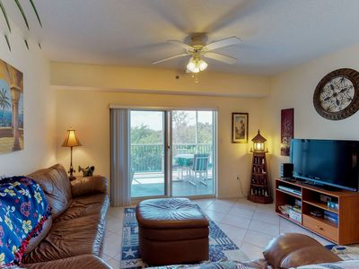 Photo for Deluxe dog-friendly condo w/ shared pool, hot tub, & sports courts near beach!