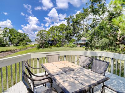 Photo for Bask in nostalgia with a stay in a treehouse-inspired condo w/ marsh views!