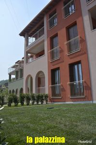 Photo for DREAM APARTMENT: NEW APARTMENT !! IN TOSCOLANO MADERNO, WITH GARDEN, PORTICO