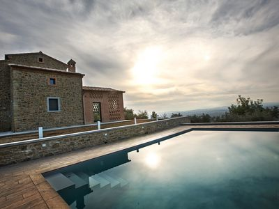 Photo for Private Villa with sauna, WIFI, A/C, private pool, hot tub, TV, terrace, panoramic view, parking