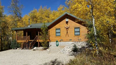 Photo for New - Secluded Log House 3 BR/2 BA